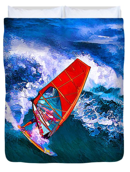 Windsurfer 1 Duvet Cover by ABeautifulSky Photography