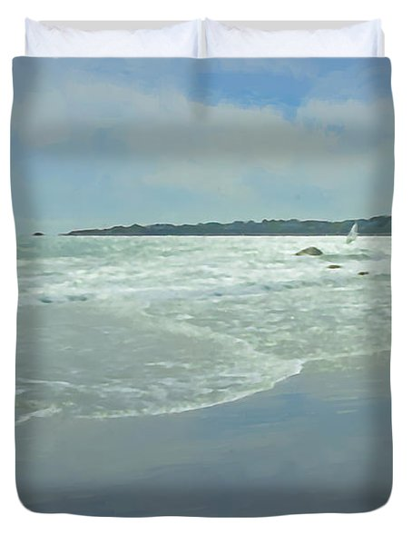Windsurfer Little Compton, Ri Duvet Cover
