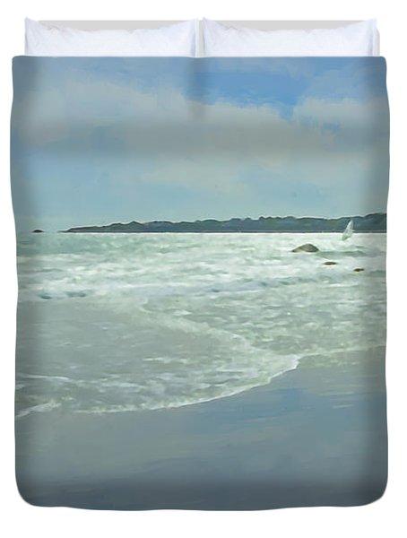 Windsurfer Little Compton, Ri Duvet Cover