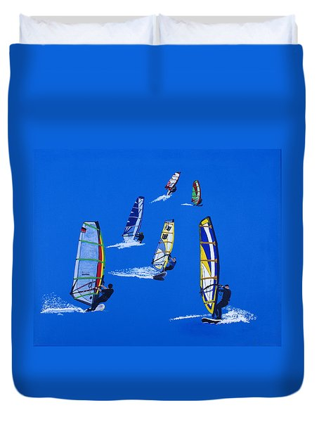 Windsurfers Duvet Cover