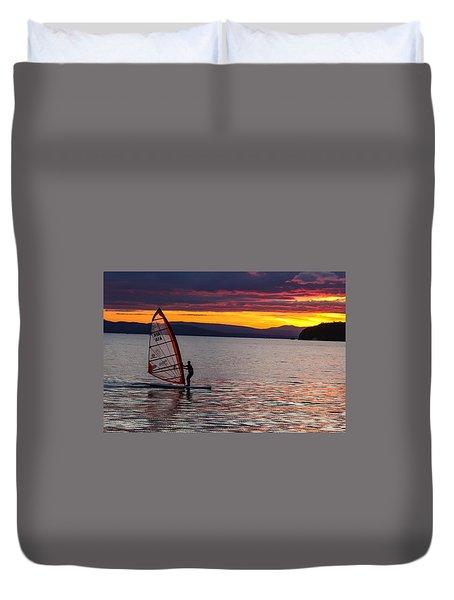 Windsurfing Lake Champlain Duvet Cover