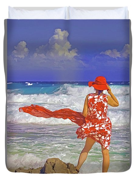 Windswept Duvet Cover by Dennis Cox WorldViews
