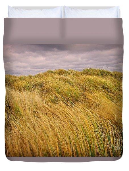 windswept Grasses Duvet Cover
