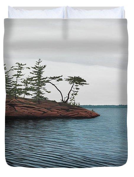 Windswept Island Georgian Bay Duvet Cover by Kenneth M  Kirsch