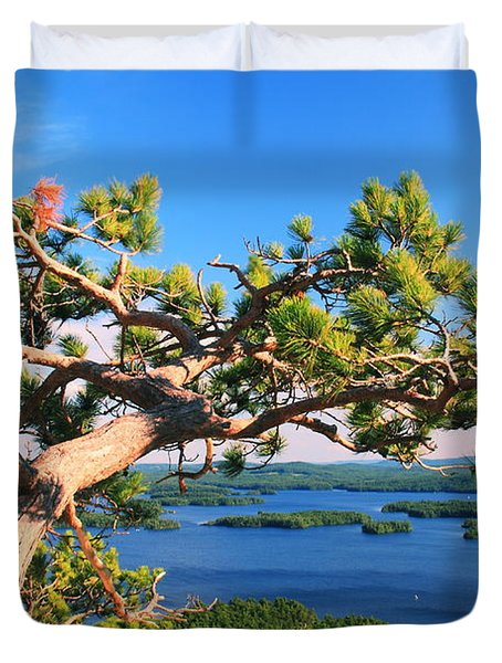 Windswept Pine On Rattlesnake Mountain Duvet Cover