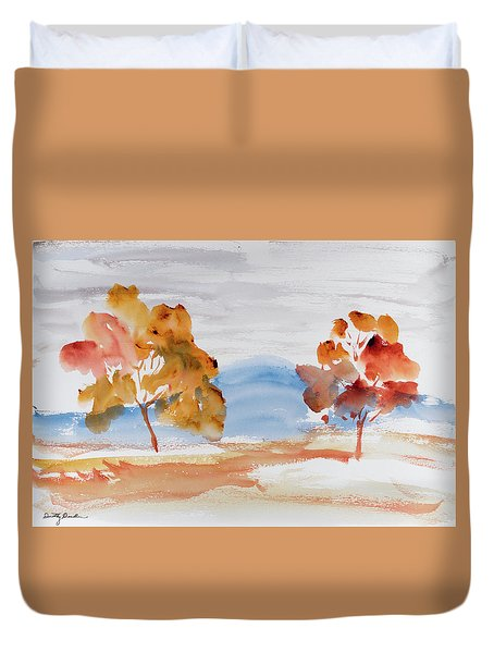 Windy Autumn Colours  Duvet Cover