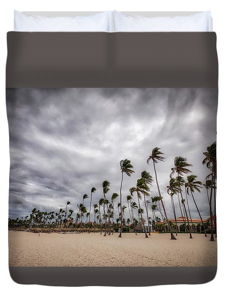 Windy Beach Duvet Cover