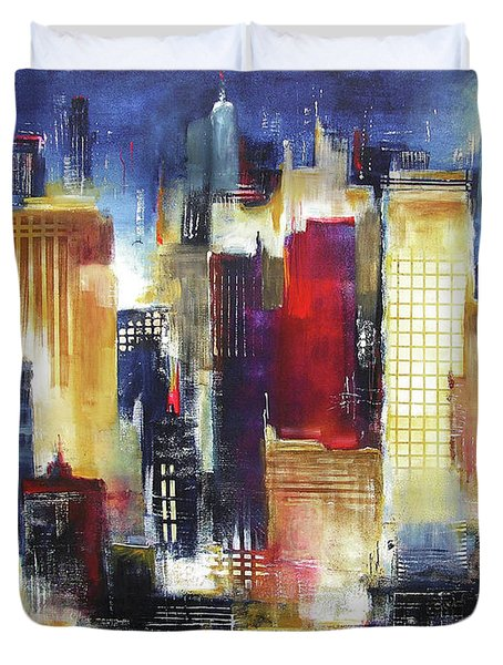 Windy City Nights Duvet Cover