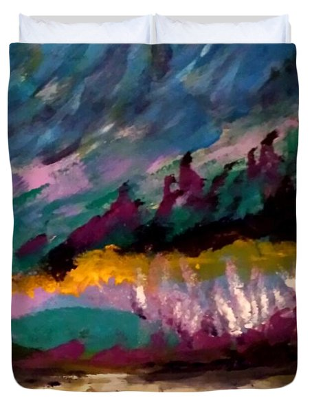 Windy Day On Gulf Islands Duvet Cover