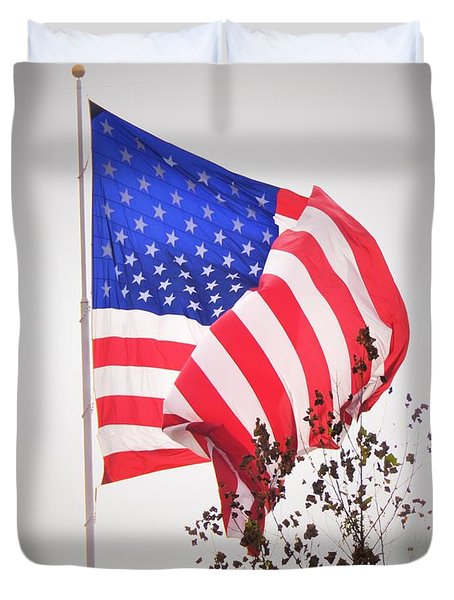 Long May It Wave Duvet Cover
