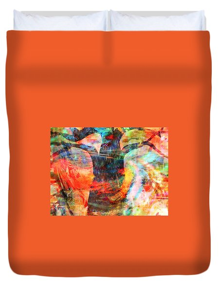 Windy Moments Duvet Cover by Fania Simon