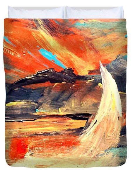 Windy Sail Duvet Cover