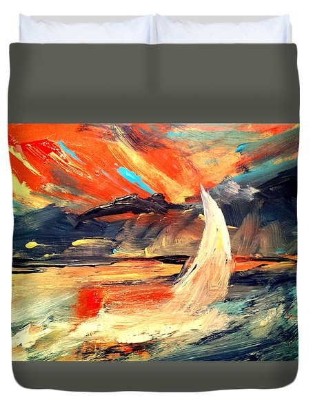 Windy Sail Duvet Cover