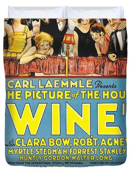 Wine 1924 Duvet Cover