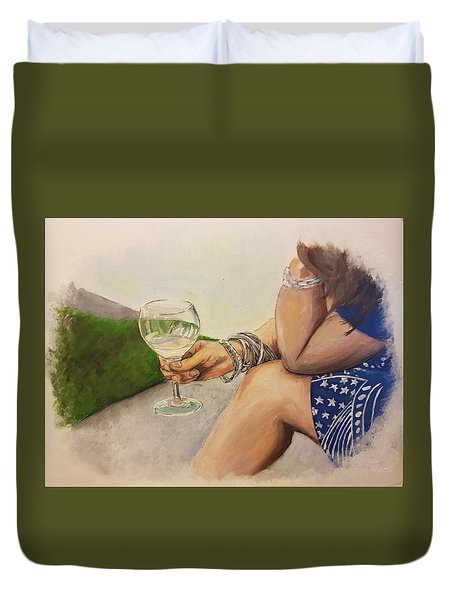 Wine And Bracelets Duvet Cover
