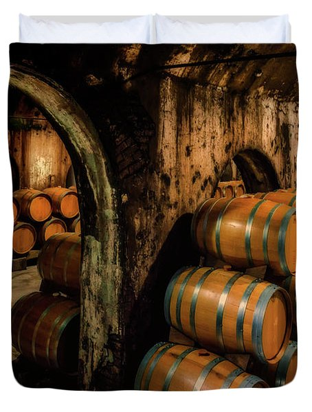 Wine Barrels At Stone Hill Winery_7r2_dsc0318_16-08-18 Duvet Cover