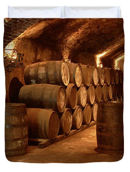 Wine Barrels In A Cellar, Buena Vista Duvet Cover