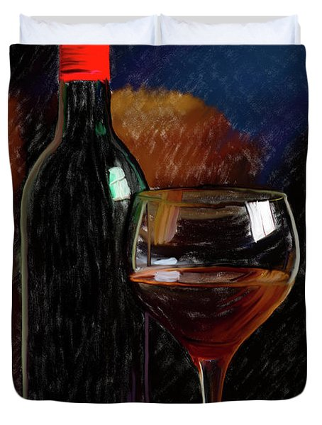 Wine Cellar 01 Duvet Cover by Wally Hampton