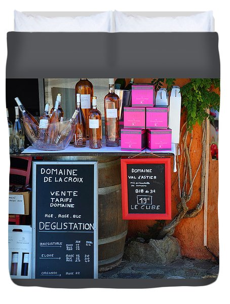 Duvet Cover featuring the photograph Wine Cellar by Richard Patmore