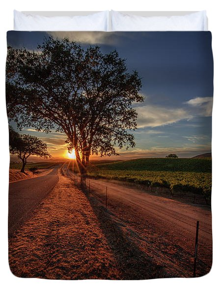 Wine Country Evening Duvet Cover