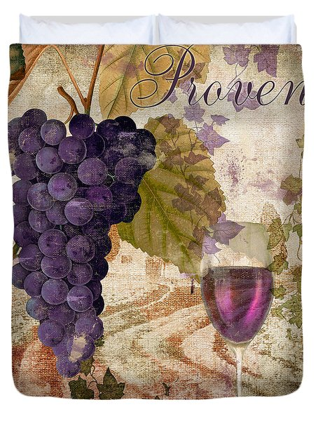 Wine Country Provence Duvet Cover by Mindy Sommers