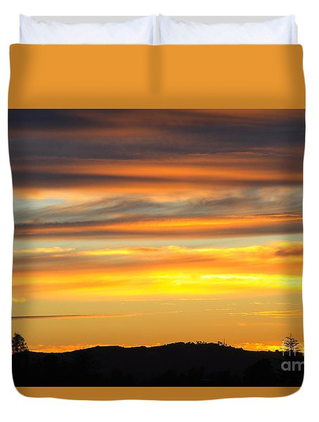 Wine Country Sky Duvet Cover