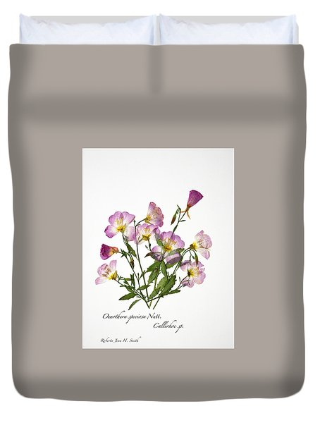 Wine-cup And Primrose Duvet Cover