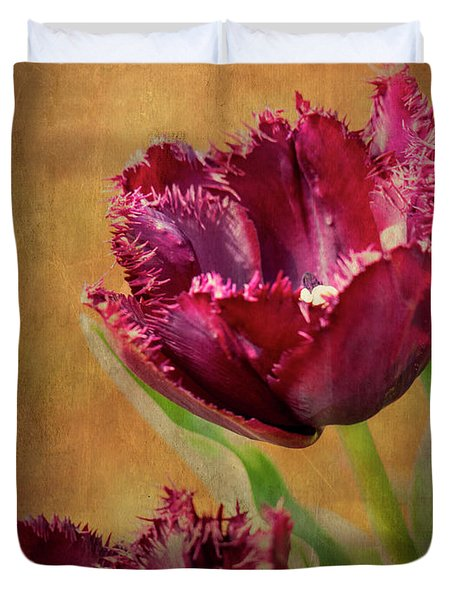 Wine Dark Tulips From My Garden Duvet Cover