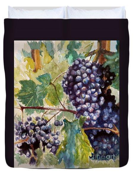 Wine Grapes Duvet Cover