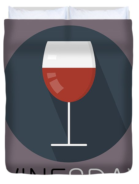 Wine Poster Print - It's Winesday Duvet Cover