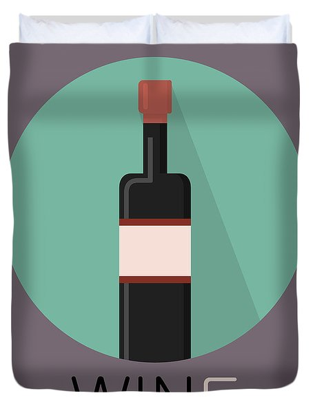 Wine Poster Print - Win And Wine Duvet Cover