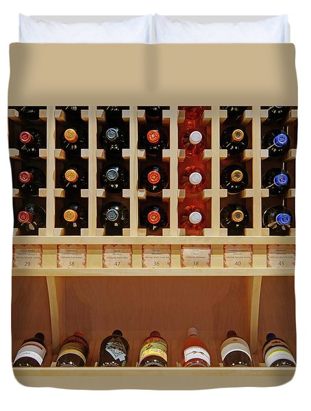 Duvet Cover featuring the photograph Wine Rack - 1 by Nikolyn McDonald