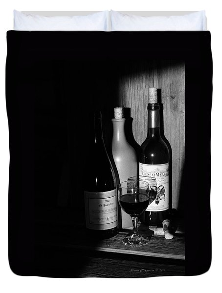 Duvet Cover featuring the photograph Wine Sampling by Steven Clipperton