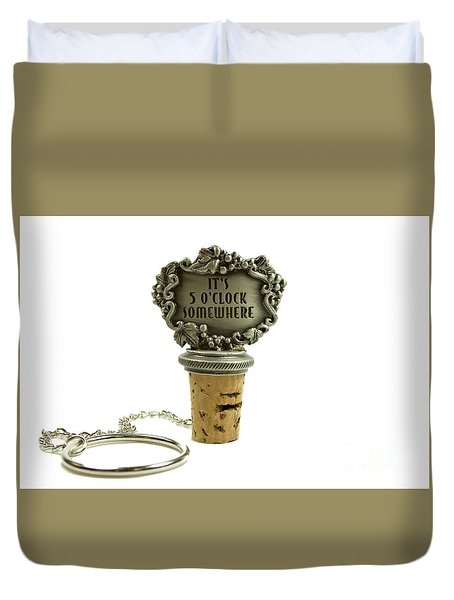 Duvet Cover featuring the photograph Wine Stopper by Michael Waters