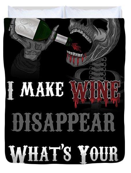 Wine Superpower Skeleton Fantasy Art Duvet Cover
