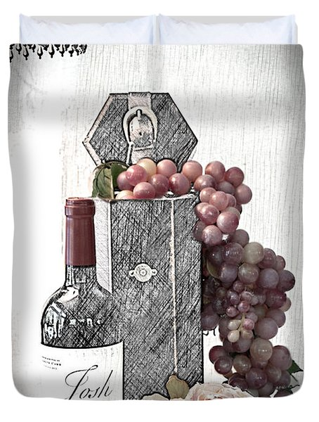 Duvet Cover featuring the photograph Wine Tasting Evening by Sherry Hallemeier