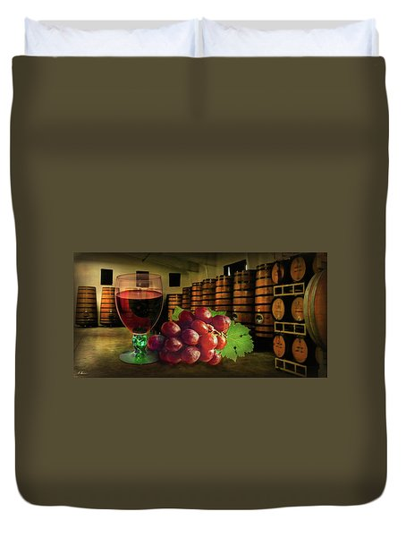 Duvet Cover featuring the photograph Wine Tasting by Hanny Heim