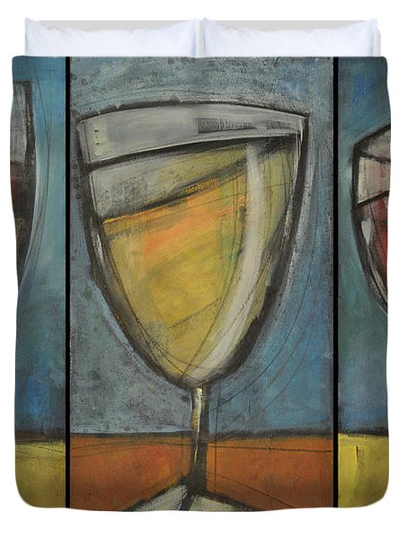 Wine Trio - Option One Duvet Cover by Tim Nyberg
