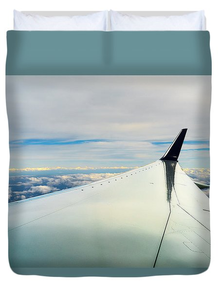 Wing And Clouds Duvet Cover