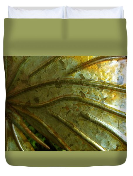 Wing In Saffron And Sienna Duvet Cover