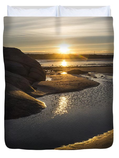 Wingaersheek Beach Sunrise Gloucester Ma Duvet Cover