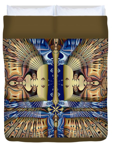 Winged Anubis Duvet Cover