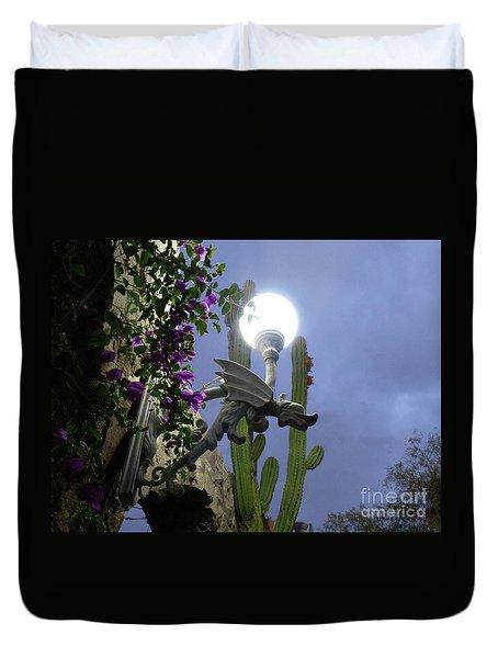 Winged Gargoyle In El Fuerte Duvet Cover
