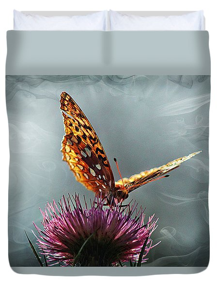 Duvet Cover featuring the photograph Winged Things by Jessica Brawley