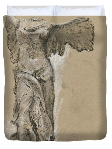 Winged Vicory Of Samothrace Duvet Cover