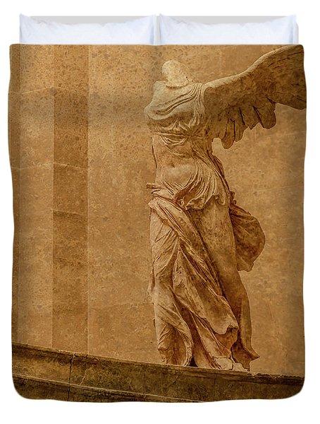 Paris, France - Louvre - Winged Victory Duvet Cover