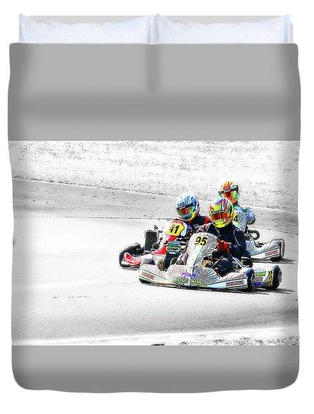 Wingham Go Karts 04 Duvet Cover