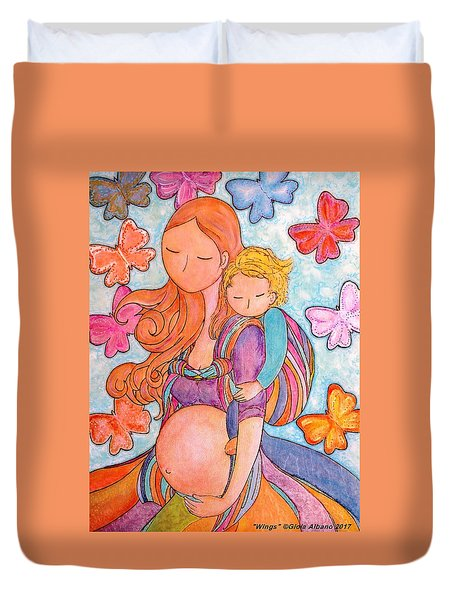 Wings Duvet Cover by Gioia Albano