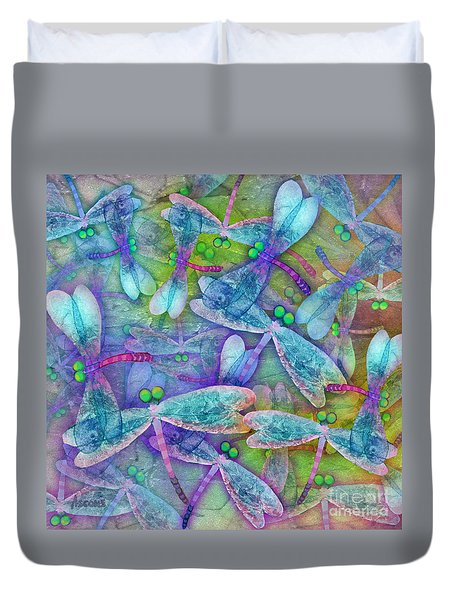 Wings Large In Square Format Duvet Cover by Teresa Ascone