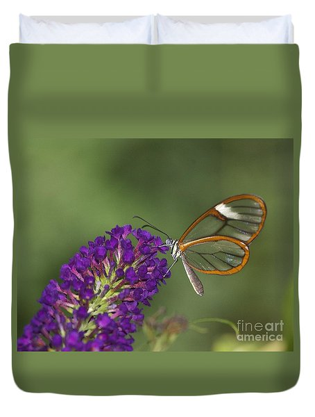 Wings Like Glass Duvet Cover by Ruth Jolly